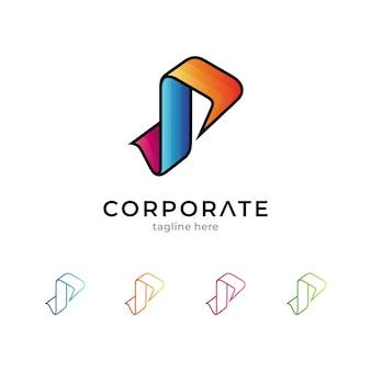 Eenvoudig letter p-logo geïsoleerd op wit