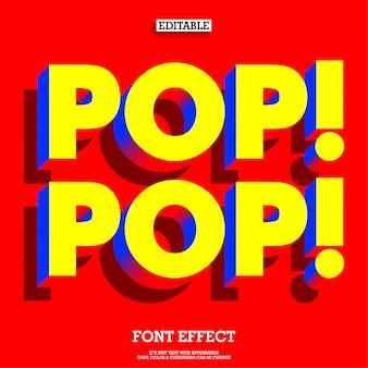 Eenvoudig leuk en vriendelijk pop-lettertype