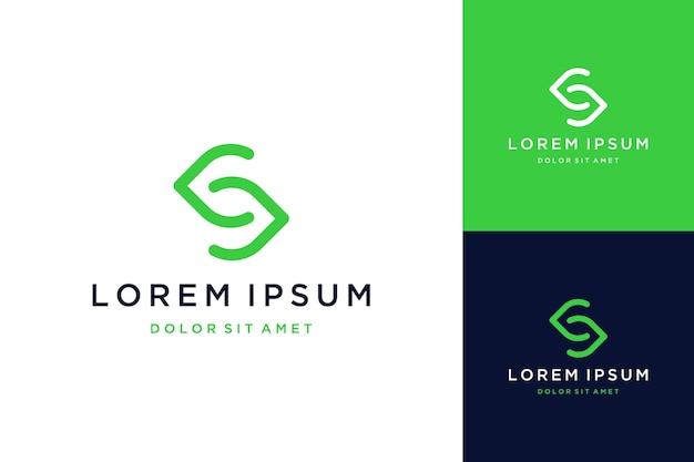 Eenvoudig logo-ontwerp of monogram of initialen s