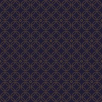 Eenvoudig luxe geometrisch naadloos patroonbehang als achtergrond in batikstijl