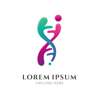 Eenvoudig menselijk dna-logo