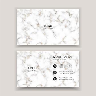 Eenvoudig minimaal wit visitekaartje
