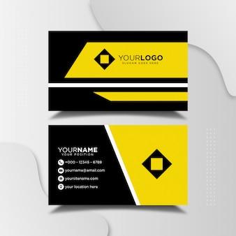 Eenvoudig minimalistisch visitekaartje ontwerpsjabloon