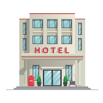 Eenvoudig modern hotel