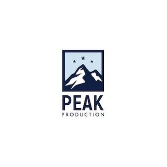 Eenvoudig modern montain-logo