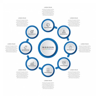 Eenvoudig modern stap infographic sjabloon