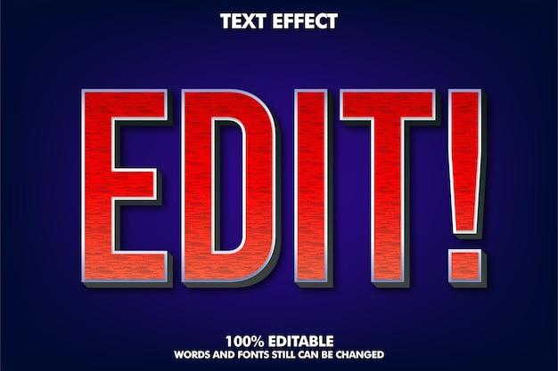 Eenvoudig modern teksteffect en modern ontwerp