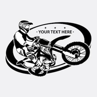 Eenvoudig motocross logo ontwerpsjabloon