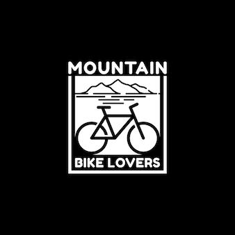 Eenvoudig mountain bike lover-logo