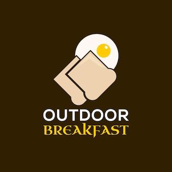Eenvoudig ontbijt vectorillustratie eieren toast
