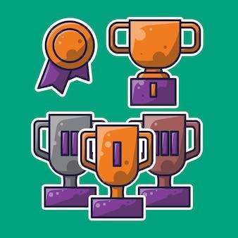 Eenvoudig ontwerp van trofeeën en onderscheidingen