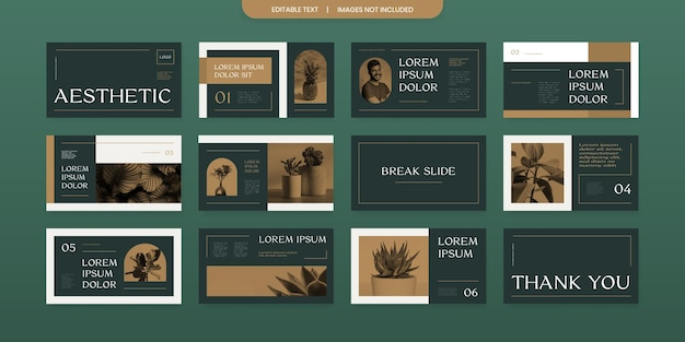 Eenvoudig ontwerp voor presentatiedia-lay-out met retro-look