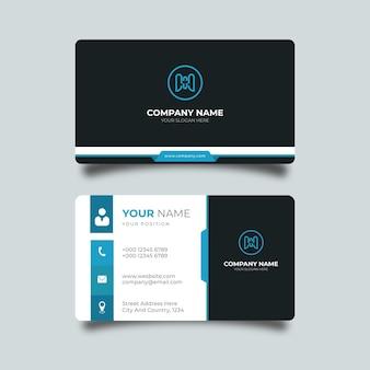Eenvoudig ontwerpsjabloon voor visitekaartjes