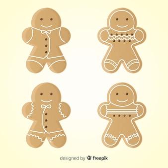 Eenvoudig pak van de peperkoekkoekjes van kerstmis