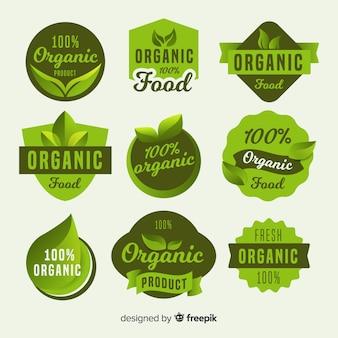 Eenvoudig pakket met biologisch voedseletiketten