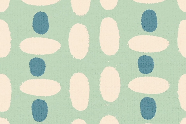 Eenvoudig patroon, textiel vintage achtergrond vector in groen