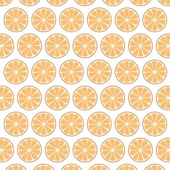 Eenvoudig patroon van sinaasappelschijfje