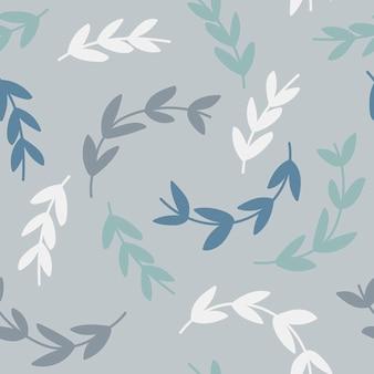 Eenvoudig patroon van takken op blauwe achtergrond