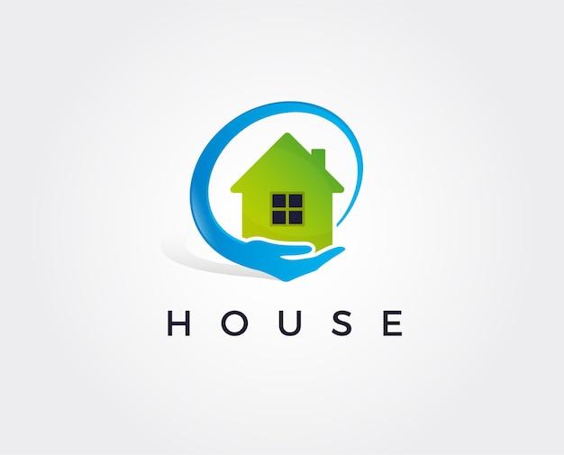 Eenvoudig pictogram van huis met hartvorm binnen huis lijn kunstvorm vector symbool logo sjabloon gemakkelijk te bewerken
