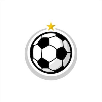 Eenvoudig pictogram voor voetbal of voetbal