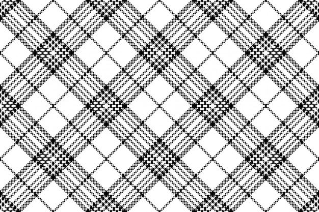Eenvoudig pixel selectievakje zwart wit naadloos patroon
