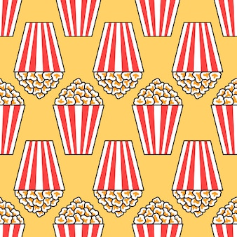 Eenvoudig popcorn naadloos patroon