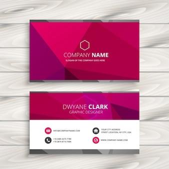 Eenvoudig roze adreskaartje