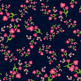 Eenvoudig schattig patroon in kleine bloemen. shabby chic millefleurs.