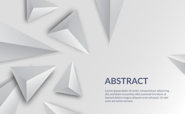 Eenvoudig schoon wit elegant bedrijfsmalplaatje als achtergrond geschikt voor de vorm van de presentatiedriehoek
