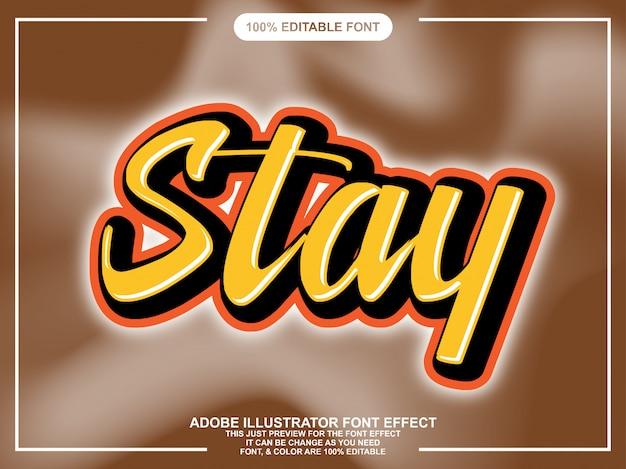 Eenvoudig script sticker lettertype effect