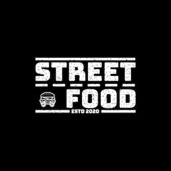 Eenvoudig straatvoedsellogo voor levensmiddelenbedrijven