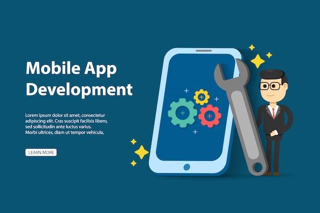 Eenvoudig te bewerken en aan te passen. mobiele app ontwikkelingsconcept