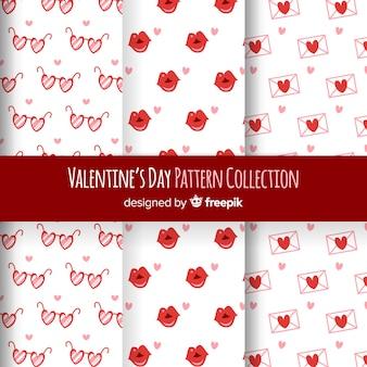 Eenvoudig valentijnsdagpatroonpak