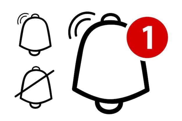 Eenvoudig vectoroverzicht, pictogram of logo, bel, ring, waarschuwing, melding, geïsoleerd op wit