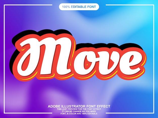 Eenvoudig vetgedrukt cript sticker lettertype effect