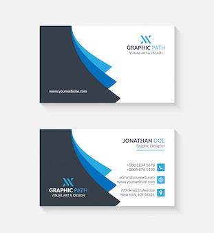 Eenvoudig visitekaartje met logo of pictogram voor uw bedrijf
