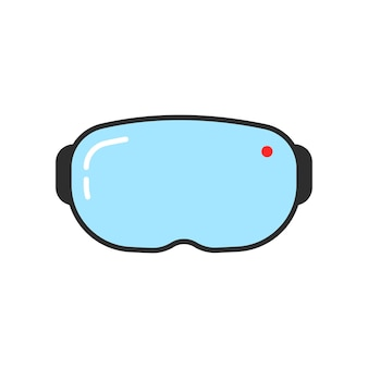 Eenvoudig vr-brilpictogram. concept van cyberpunk, illusie, futuristisch scherm, tech, stereoscopische apparatuur, interactief. vlakke stijl trend moderne logo ontwerp vectorillustratie op witte achtergrond
