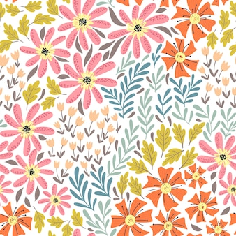 Eenvoudig wild bloemenpatroon