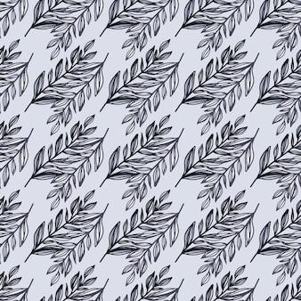 Eenvoudig winter naadloos patroon met botanische takkenvormen.