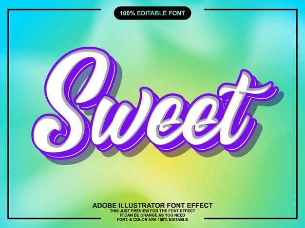 Eenvoudig zoet paars lettertype-effect