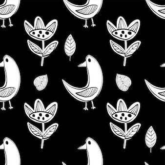Eenvoudig zwart-wit scandinavisch patroon