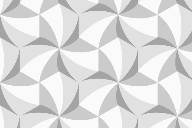 Eenvoudige 3d geometrische patroon vector grijze achtergrond
