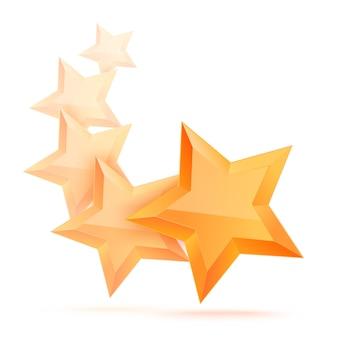 Eenvoudige 5-sterren geïsoleerd. de prijs voor de beste keuze. premiumklasse.