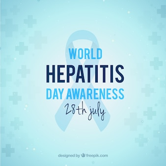 Eenvoudige achtergrondgeluid van hepatitis dag