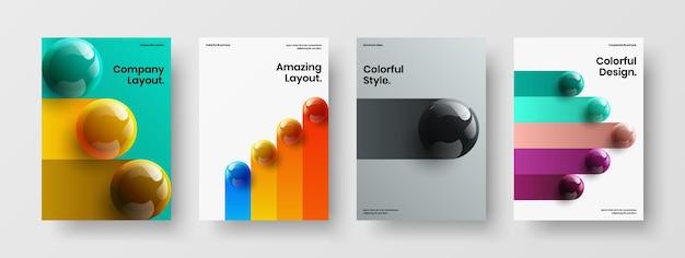 Eenvoudige ansichtkaart a4 vector design concept collectie
