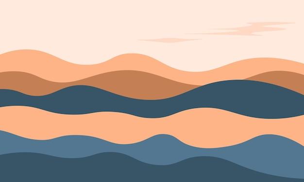 Eenvoudige berg achtergrond. eenvoudig ontwerp voor achtergronden.