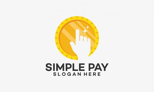 Eenvoudige betaling logo sjabloonontwerp