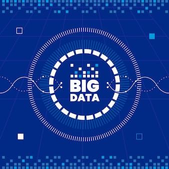 Eenvoudige big data-achtergrond