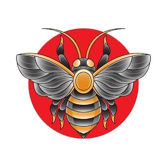 Eenvoudige bijenillustratie
