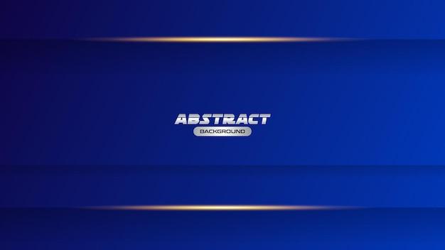 Eenvoudige blauwe achtergrond met gouden licht luxe abstracte achtergrondsjabloon